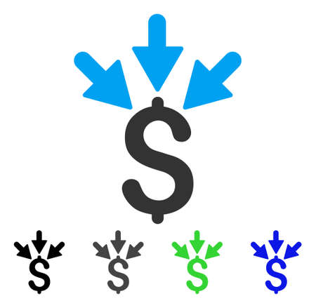 Aggregate Payment flat vector pictograph. Colored aggregate payment gray, black, blue, green icon versions. Flat icon style for application design.