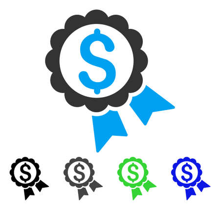 Featured Price Label flat vector icon. Colored featured price label gray, black, blue, green icon versions. Flat icon style for web design. 向量圖像
