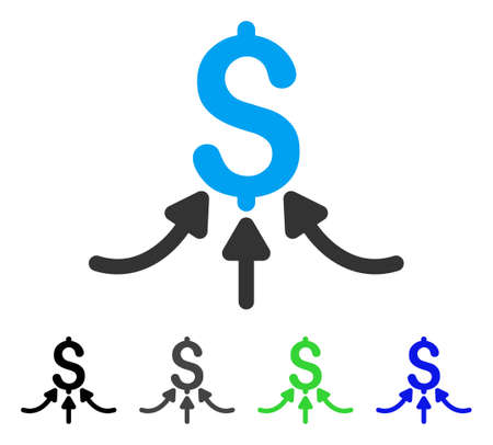 takings: Financial Accumulator flat vector pictograph. Colored financial accumulator gray, black, blue, green pictogram variants. Flat icon style for web design.
