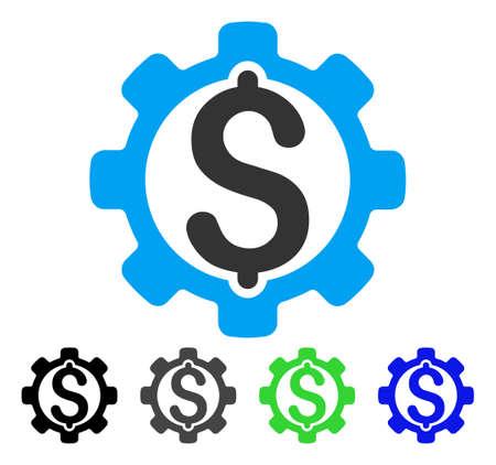 price development: Development Price flat vector icon. Colored development price gray, black, blue, green pictogram variants. Flat icon style for web design.
