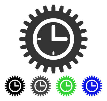 Time Options flat vector pictograph. Colored time options gray, black, blue, green pictogram variants. Flat icon style for graphic design.