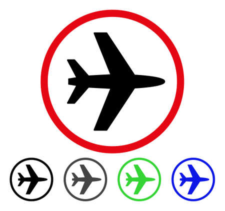 Airport flat vector icon. Colored airport gray, black, blue, green pictogram variants. Flat icon style for graphic design.
