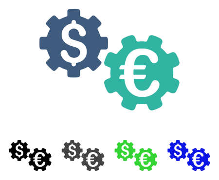 International Financial Mechanics flat vector icon. Colored international financial mechanics gray, black, blue, green pictogram versions. Flat icon style for application design.