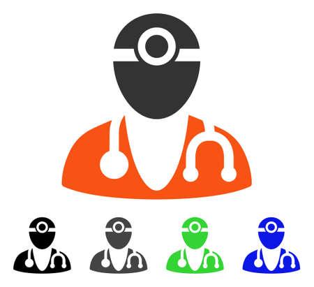 Optometrist Doctor Flat Vector Pictogram Colored Optometrist