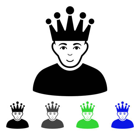 Moderator flat vector icon. Colored moderator gray, black, blue, green pictogram versions. Flat icon style for graphic design.