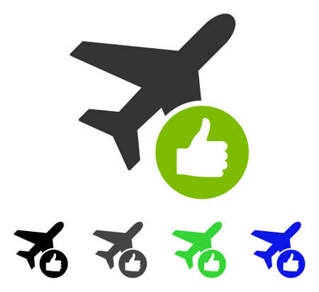 Airplane Valid flat vector pictogram. Colored airplane valid gray, black, blue, green icon variants. Flat icon style for web design.