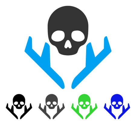 Mortal Landing Airplanes flat vector pictograph. Colored mortal landing airplanes gray, black, blue, green pictogram versions. Flat icon style for web design.