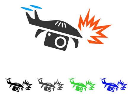 Spy explosion flat pictograph.