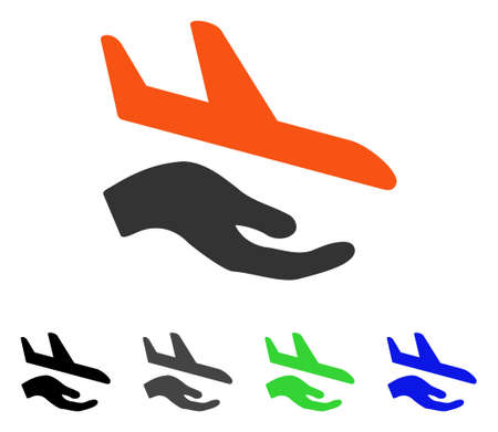 Aviation Support flat vector pictograph. Colored aviation support gray, black, blue, green pictogram versions. Flat icon style for web design. Illustration