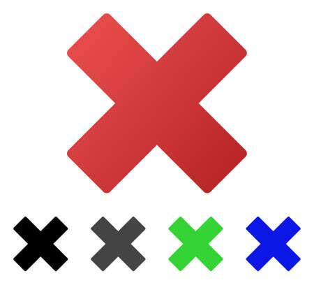 Delete flat vector icon. Colored delete gradient, gray, black, blue, green pictogram versions. Flat icon style for application design.