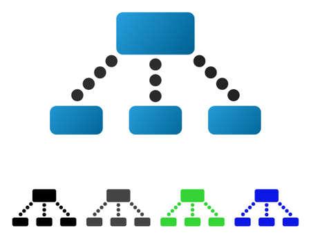 Jerarquía plana pictograma.