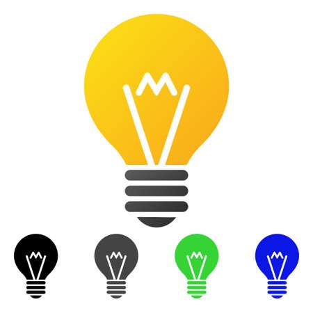 Colored hint bulb gradient. Illusztráció
