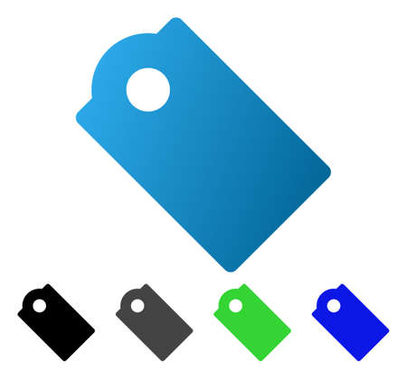 Tag flat vector icon. Colored tag gradient, gray, black, blue, green pictogram versions. Flat icon style for web design.