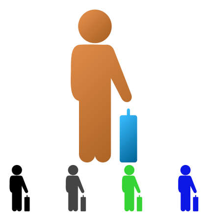 Child baggage flat icon. Illustration