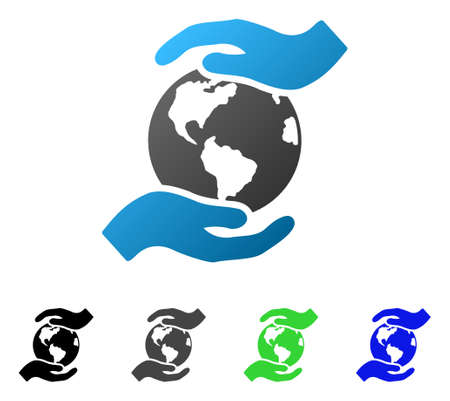 International Care flat vector pictograph. Colored international care gradient, gray, black, blue, green pictogram variants. Flat icon style for graphic design.