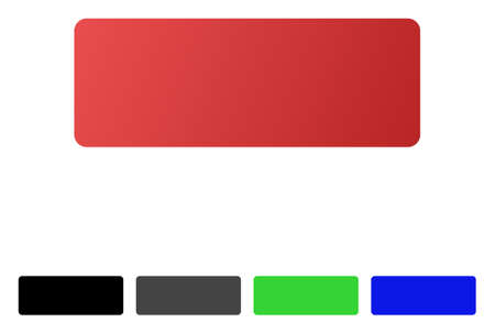 erased: Minus flat vector pictogram. Colored minus gradient, gray, black, blue, green pictogram variants. Flat icon style for application design.