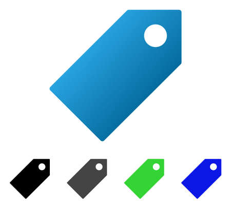 Tag flat vector icon. Colored tag gradient, gray, black, blue, green icon variants. Flat icon style for graphic design.