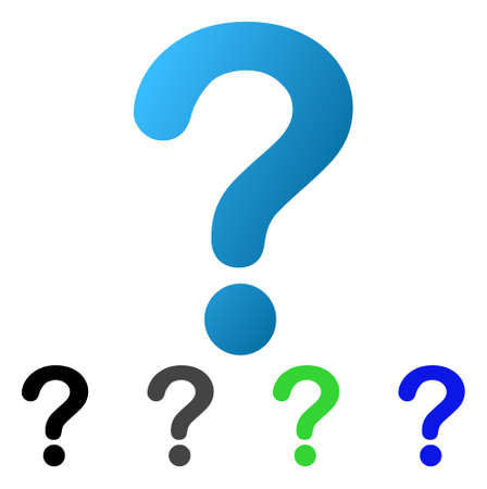 Question flat vector icon. Colored question gradiented, gray, black, blue, green pictogram versions. Flat icon style for web design.