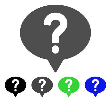 investigating: Ask flat vector pictograph. Colored ask, gray, black, blue, green pictogram versions. Flat icon style for graphic design. Illustration