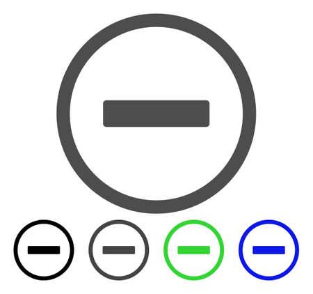 Remove flat vector illustration. Colored remove, gray, black, blue, green icon versions. Flat icon style for graphic design. Ilustração