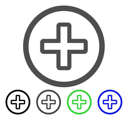 new addition: Create flat vector pictograph. Colored create, gray, black, blue, green icon versions. Flat icon style for application design.