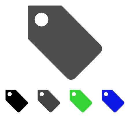 Tag flat vector pictogram. Colored tag, gray, black, blue, green icon versions. Flat icon style for web design.