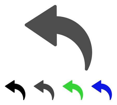 Undo flat vector illustration. Colored undo, gray, black, blue, green icon variants. Flat icon style for web design. Stock Vector - 83376726