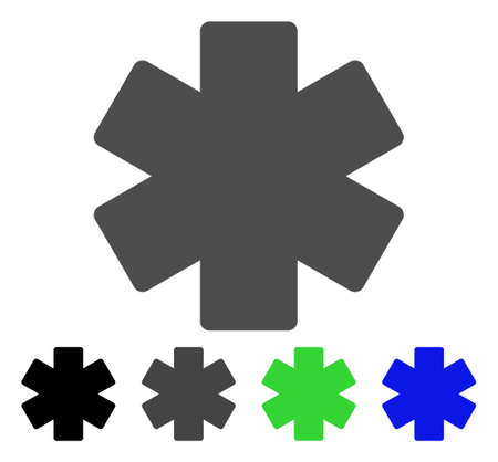 operation for: Multiply Math Operation flat vector pictograph. Colored multiply math operation, gray, black, blue, green pictogram variants. Flat icon style for application design.