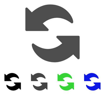 フラット ベクトル絵文字を更新します。更新色、灰色、黒、青、緑のピクトグラムの亜種。アプリケーション設計のフラット アイコン スタイル。  イラスト・ベクター素材