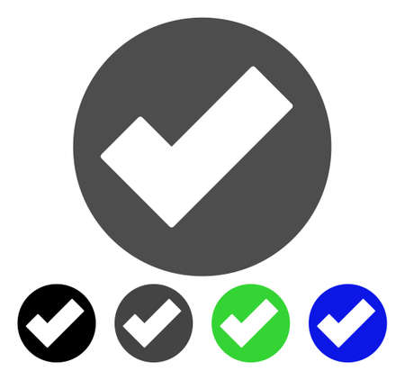 checklist: Apply flat vector pictogram. Colored apply, gray, black, blue, green pictogram versions. Flat icon style for application design.