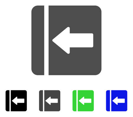 Hide Menu Left flat vector pictograph. Colored hide menu left, gray, black, blue, green pictogram versions