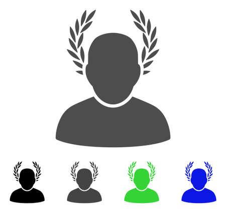 シーザー フラット ベクトル アイコン。シーザーの色、灰色、黒、青、緑のピクトグラムの亜種。Web デザインのフラット アイコン スタイル。  イラスト・ベクター素材
