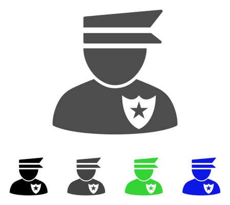 Policeman illustration.