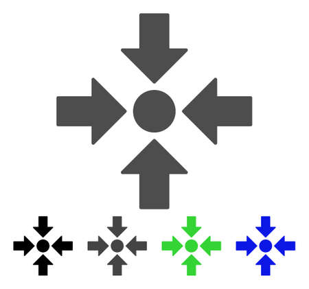 Meeting Point flat vector icon. Colored meeting point, gray, black, blue, green icon versions. Flat icon style for application design. Ilustração