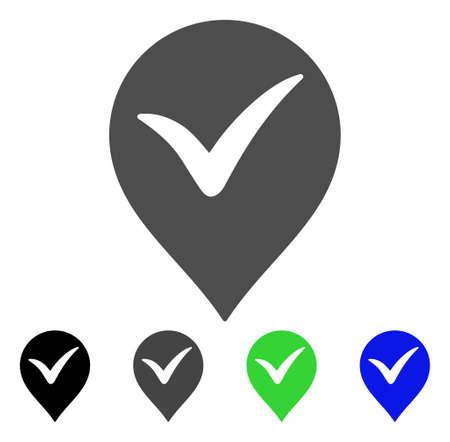 checklist: Ok Marker flat vector pictogram. Colored ok marker, gray, black, blue, green pictogram versions. Flat icon style for web design.