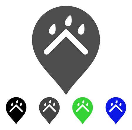 rainy season: Rain Protection Marker flat vector pictogram. Colored rain protection marker, gray, black, blue, green icon versions. Flat icon style for application design. Illustration