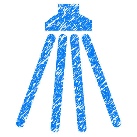 antiseptic: Grunge Shower icon with grunge design and dust texture. Unclean blue pictogram for rubber seal stamp imitations and watermarks. Draft emblem symbol.