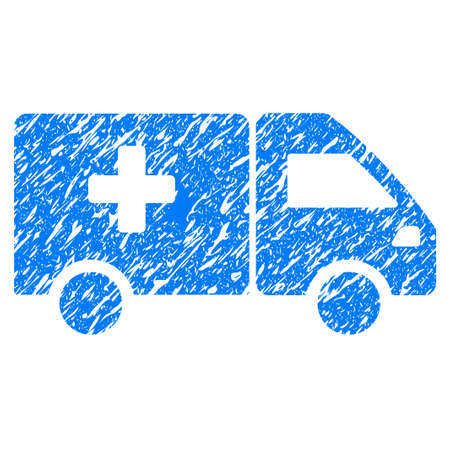 Grunge Drug Shipment icon with grunge design and dirty texture. Unclean raster blue pictogram for rubber seal stamp imitations and watermarks. Draft sticker symbol. Stock Photo