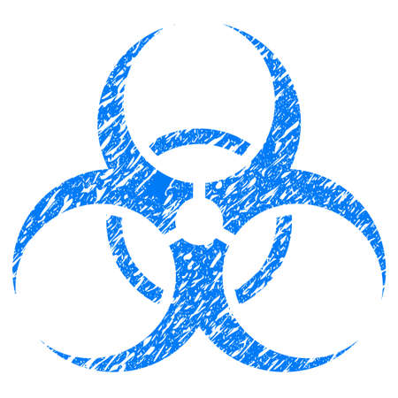 Grunge Biohazard Symbol Icon With Grunge Design And Dirty Texture