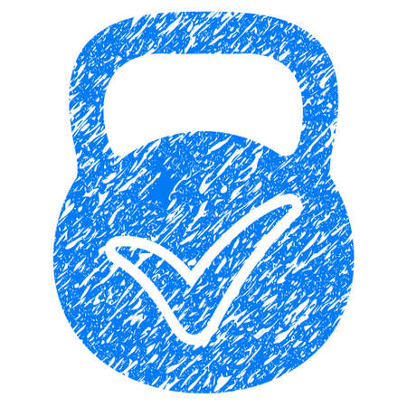 Grunge Valid Mass icon with grunge design and dirty texture. Unclean vector blue pictogram for rubber seal stamp imitations and watermarks. Draft sticker symbol.