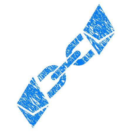 scratched: Grunge Ethereum Blockchain rubber seal stamp watermark. Icon symbol with grunge design and scratched texture. Unclean vector blue emblem. Illustration