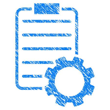 Grunge Smart Contract Gear rubberen afdichting stempel watermerk. Pictogram symbool met grunge ontwerp en vuile textuur. Onrein vector blauw embleem.