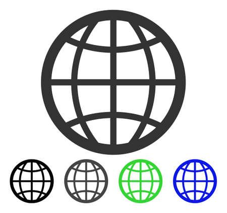 Globe flat pictograph.