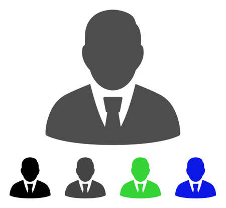 Manager flat icon style for graphic design. Illustration
