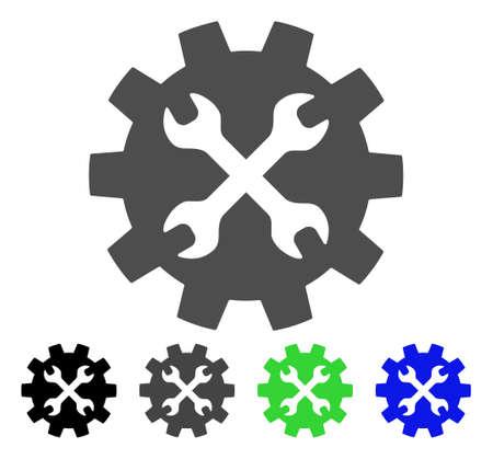 Extra platte vector pictograph. Gekleurde gereedschappen, grijze, zwarte, blauwe, groene pictogramversies. Platte pictogramstijl voor grafisch ontwerp.