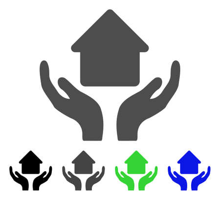 Cuidados en el hogar manos plana vector pictograma. Cuidados para el hogar a color, gris, negro, azul, verde, icono de variantes. Icono de estilo plano para diseño gráfico.