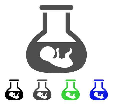 In Vitro Embryo flat vector pictograph. Colored in vitro embryo, gray, black, blue, green icon versions. Flat icon style for graphic design. Illustration
