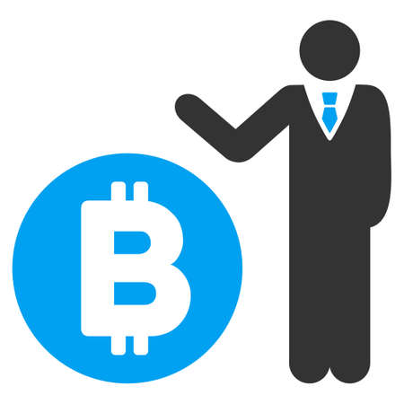 Bitcoin Banker flat vector icon for application and web design. Illustration