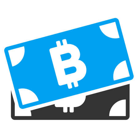 Bitcoin Banknotes flat vector illustration for application and web design.