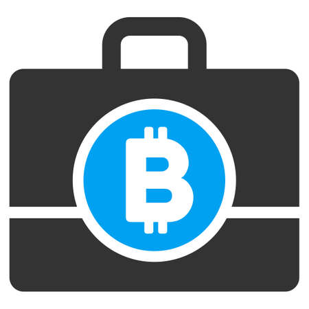 Bitcoin Case flat vector illustration for application and web design. Illustration